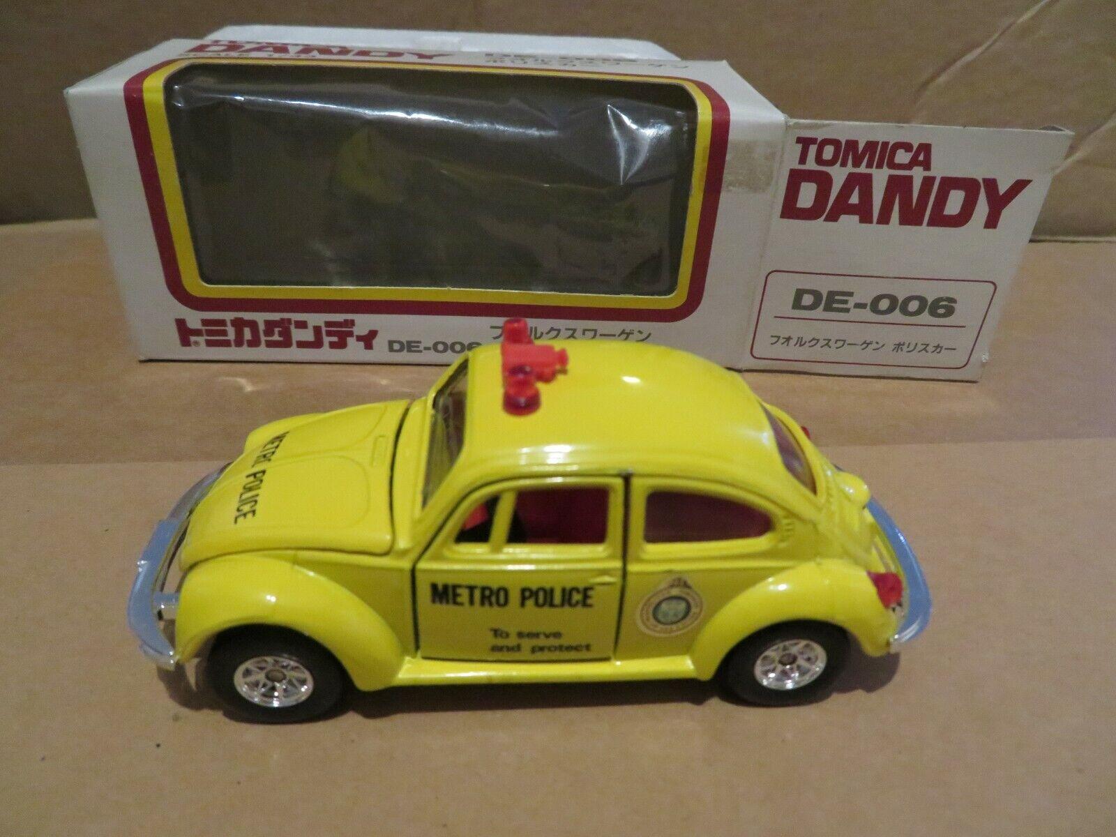 Tomy Tomica Dandy VW Volkswagen Beetle Metro Police Car DE-006 1 43 Nice w Box