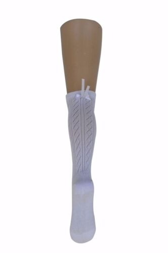 Girls Knee High Socks Satin Bow 90/% Luxury cotton Kids Toddler socks 5-6 years