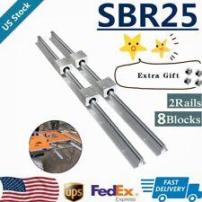 Sbr25 Linear Rail Guide 400mm 1500mm Slide Shaft Rod8x Sbr25uu Bearing Block