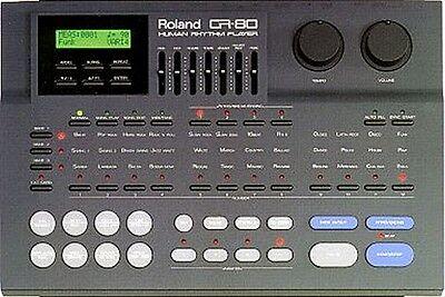 ROLAND CR-80 HUMAN RHYTHM PLAYER DRUM MACHINE & POWER SUPPLY
