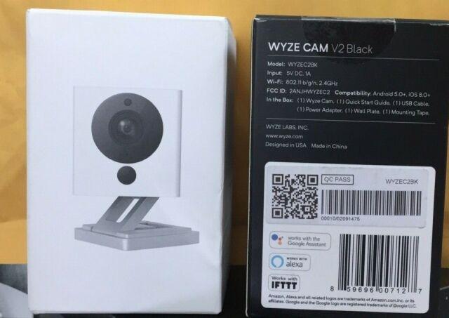 Wyze Cam V2 1080p Hd Wifi Indoor Camera Black For Sale Online Ebay