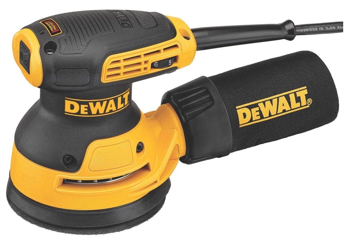 DeWalt RANDOM ORBITAL PALM SANDER DWE6423-XE 280W 125mm Dust-Sealed Switch