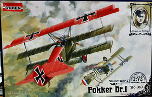 Fokker-Dr-1-Triplano-Richthofen-Roden-Kit-1-72-Ro-010-Serie-World-War-I