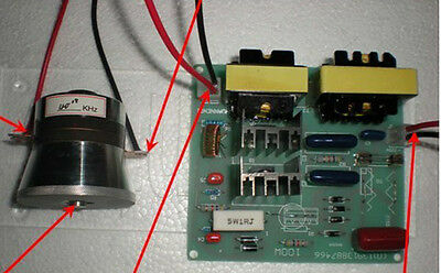 50W 40KHz Ultrasonic Cleaning Transducer Cleaner +Power Driver Board 220vAC