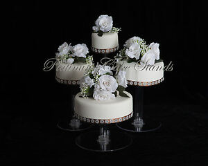 5 tier cascade wedding cake stand stands set 4 tier cascade wedding cake stand style r406 10453