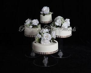4 TIER CASCADE WEDDING CAKE STAND STYLE R406