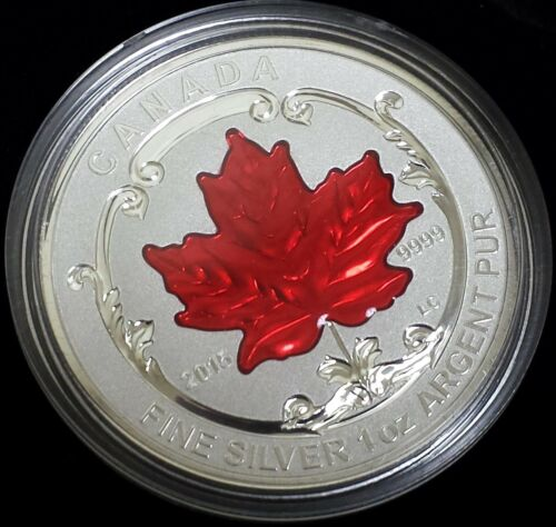 The Maple Leaf 5 pc 0.9999 fine silver! 2015 Canada Fine Silver Fractional Set