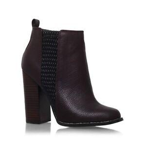 11623135042 Details about MISS KG Kurt Geiger Scorpio Block Heel Ankle Boots- Wine UK 7  EU 40 JS182 CC 07