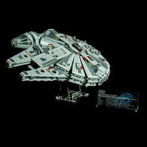 Custom-Display-Stand-amp-UCS-PLAQUE-for-LEGO-75105-MILLENNIUM-FALCON