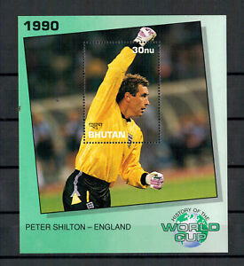 Bhoutan-World-Cup-1990-Peter-Shilton-Angleterre-Bloc-338-1991-MNH