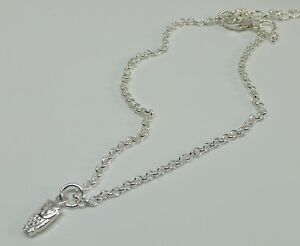 Details About Sterling Silver Dainty Owl Charm Anklet Ankle Bracelet