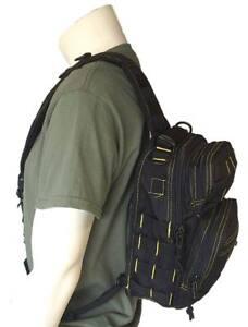 Bolso-bandolera-viaje-negro-amarillo-casual-mochila-10-litros-estilo-militar