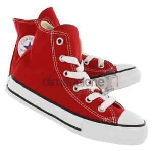CONVERSE-ALL-STAR-ALTE-ROSSE-TG-27-SCARPE-TELA-ALTE-CT-HI-CANVAS-3J232-KID-SHOES
