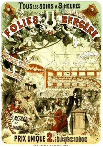 MAGNET ADVERTISING Advertisement for FOLLIES BERGERE 1878