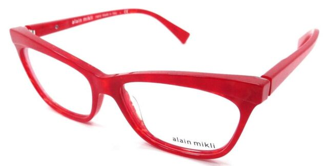 Alain Mikli RX Eyeglasses Frames A03059 1055 54x15 Red Pearl Made in ...