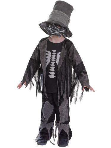 Garçons squelette fossoyeur halloween day of the dead costume robe fantaisie 3-10
