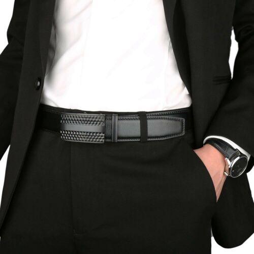 Hebilla Solida Para Hombre Con Cinturon Automatico De Cuero Con Trinquete S