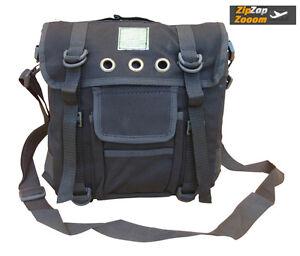 Travel-Mens-Shoulder-Satchel-Bag-Combat-Messenger-Army-Military-Surplus-Black