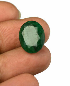Colombian 10.25 Ct 100% Natural Oval Green Emerald Loose Gemstone Christmas Sale