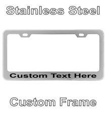 Personalized Engraved License Plate Tag Frame Text Letter Holder Chrome Custom