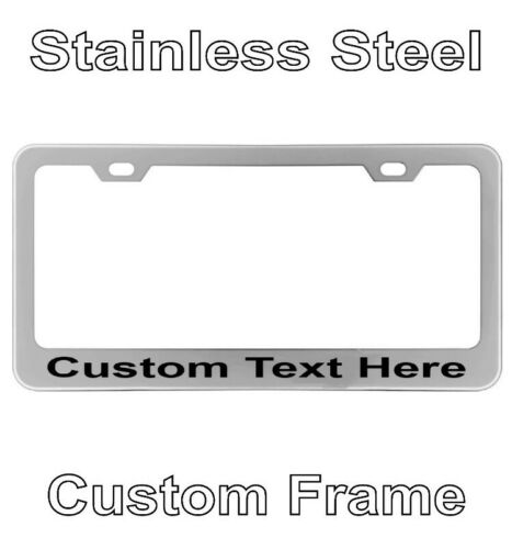 Personalized Engraved License Plate Tag Frame Text Letter Holder Chrome Custom