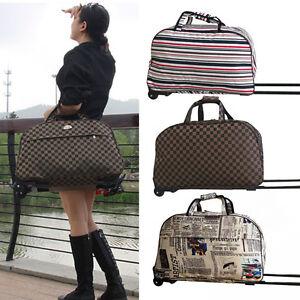 Ladies Travel Bag Holdall Hand Luggage Womens Weekend Handbag ...