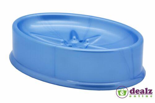 Plastique ovale boîte à savon plat titulaire voyage salle de bain blanc rose bleu