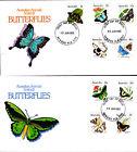 1983 Australian Animal Series III Butterflies on 2 FDC's - Newman WA 6753 PMK