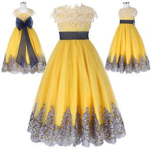 Vestido-Ajustado-Para-Ninos-noche-bautizo-boda-nina-de-las-flores-comunion