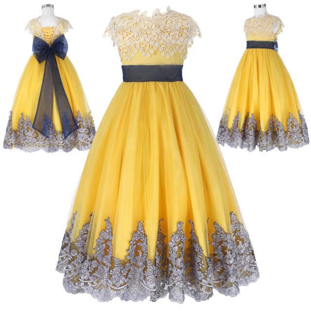 Dama De Honor infantil princesa vestido GALA Paje Fiesta Cumpleaños Traje Novia