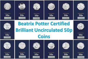 2016-2017-2018-2019-BU-Beatrix-Potter-50p-Fifty-Pence-Coins-Choose-Your-Coin