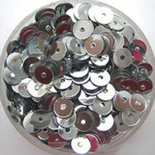 4mm 1000Pcs Lots Round Loose Sequin Flat Sewing Trim Costume Shoe Caps DIY