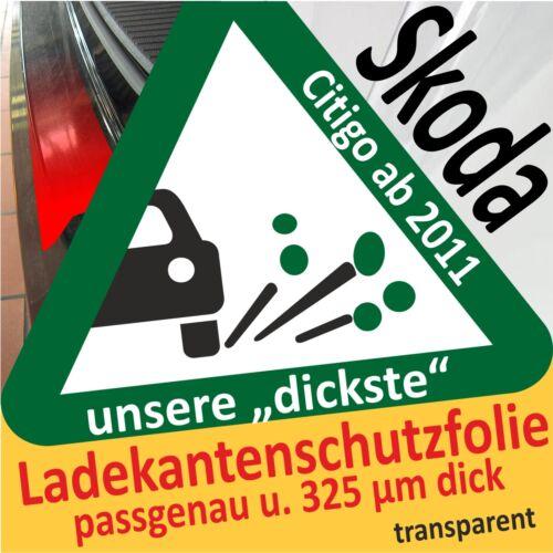 Skoda Citigo Citygo Lackschutzfolie Ladekantenschutz Folie Auto Schutzfolie
