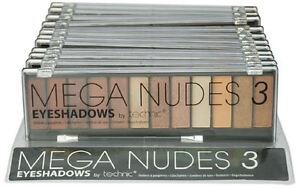 Technic Mega Nudes 3 Eyeshadow Palette - Matte Natural Makeup Smokey Eyes Browns 5021769255093