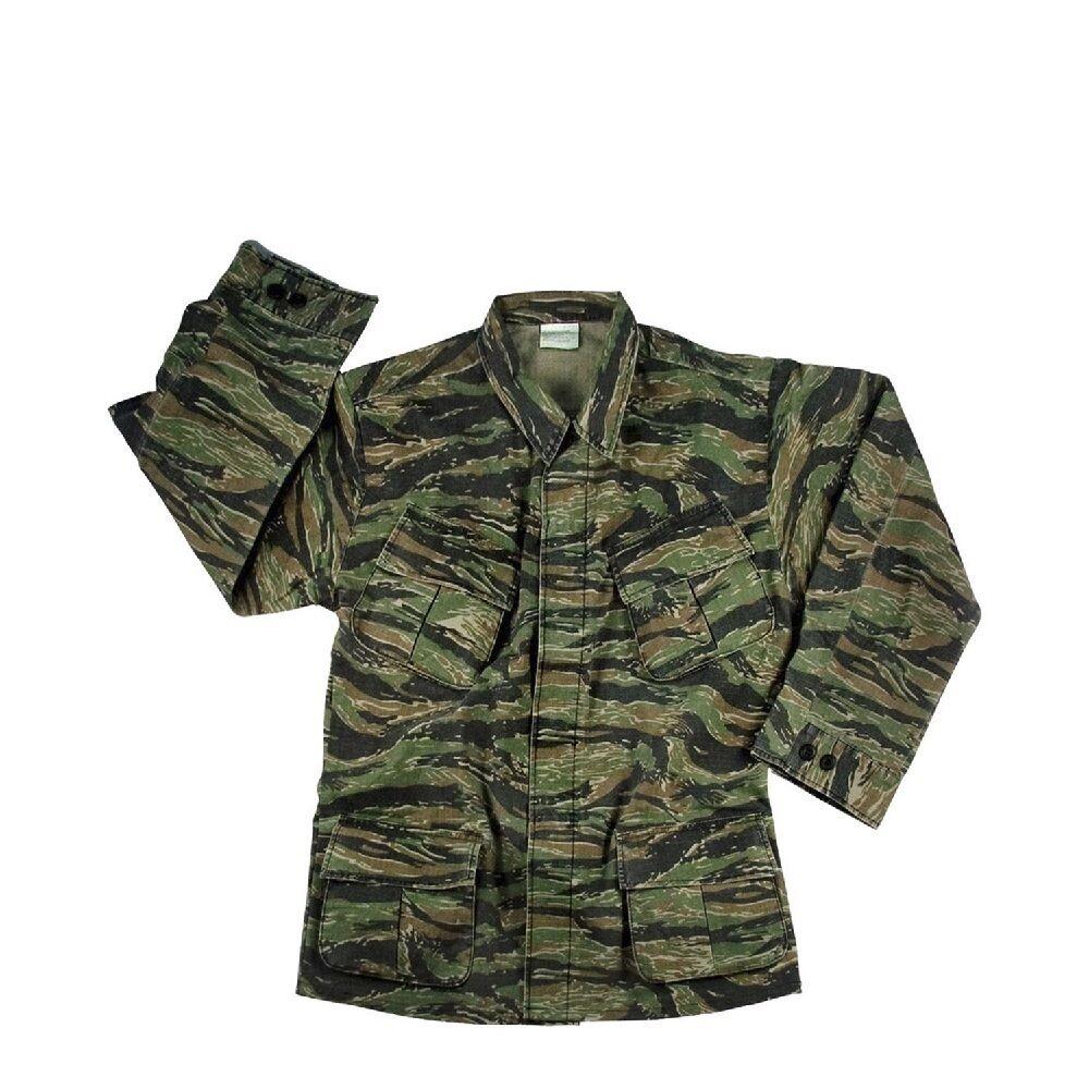 redhco 4621 Tiger Stripe Camo Vintage Vietnam Fatigue Rip-Stop Shirt