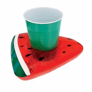100% Vrai Gonflable Flottant Boissons Can/porte-gobelet Watermelon Slice-afficher Le Titre D'origine
