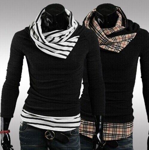 US Seller Mens Stylish Knitwear Light Sweater Slim Fit PK99