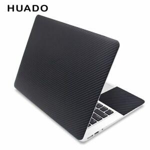 77f0d644b65a Laptop Skin Cover Black Carbon Fibre Sticker 3d Vinyl Protection ...