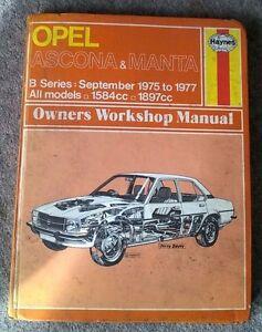 opel ascona manta haynes workshop manual 1975 to 1977 ebay rh ebay co uk Chamberlain Garage Door Opener Manual Chamberlain Garage Door Opener Manual