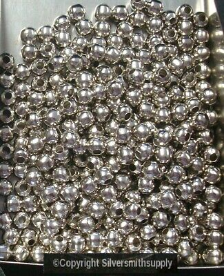 100 Silver plated metal 3mm smooth round spacer beads string accent beads fpb011