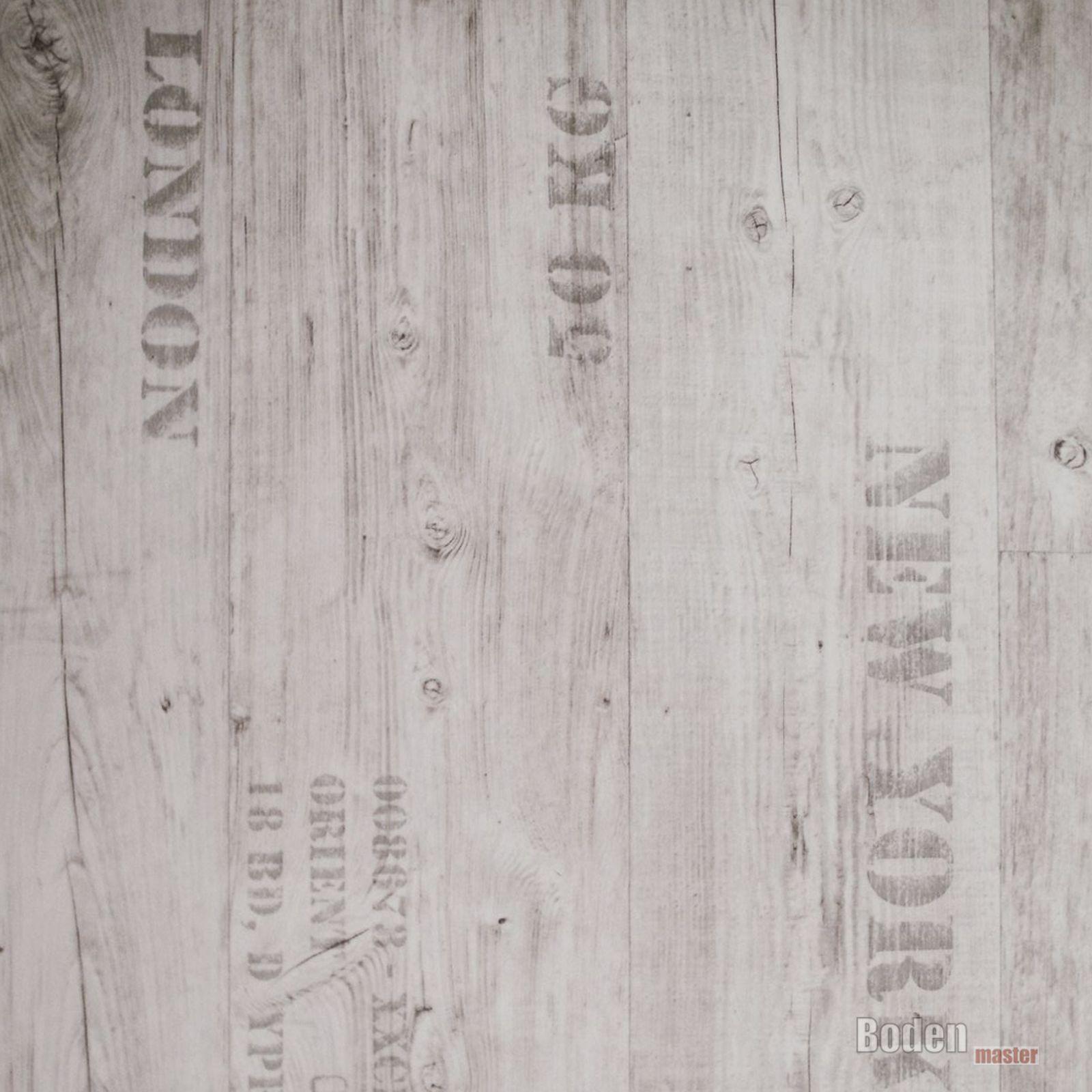 PVC CV Vinyl Bodenbelag London Berlin New York Creme Breite 3 m - 1m²/