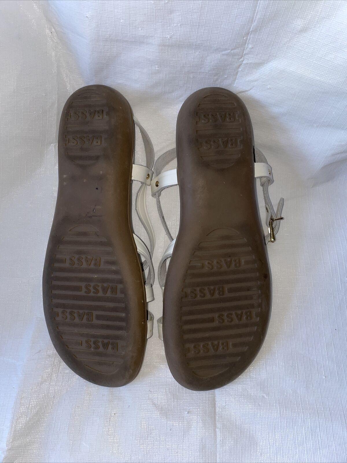GH BASS Sunjuns Women's White Leather Sandals Str… - image 5