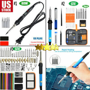 Electric-Soldering-Iron-Gun-Tool-Kit-60W-Welding-Desoldering-Pump-Tool-Set-80W