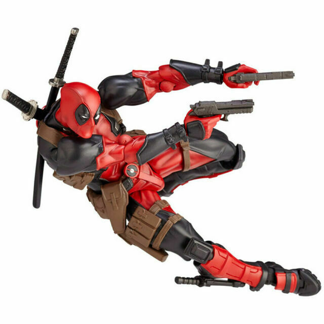 Kaiyodo Revoltech Amazing Yamaguchi Deadpool Action Figure X-Men Toy New in Bag