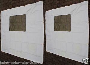 seitenteile pe abdeckplane mit fenster f r pavillon 6 eck 2x 190 x 195 cm ebay. Black Bedroom Furniture Sets. Home Design Ideas