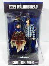"Walking Dead Serie TV colore Top Blu Carl Grimes 7"" Action figure McFarlane"