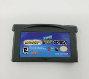 Sorry/Aggravation/Scrabble Junior (Game Boy Advance) GBA Tested Authentic