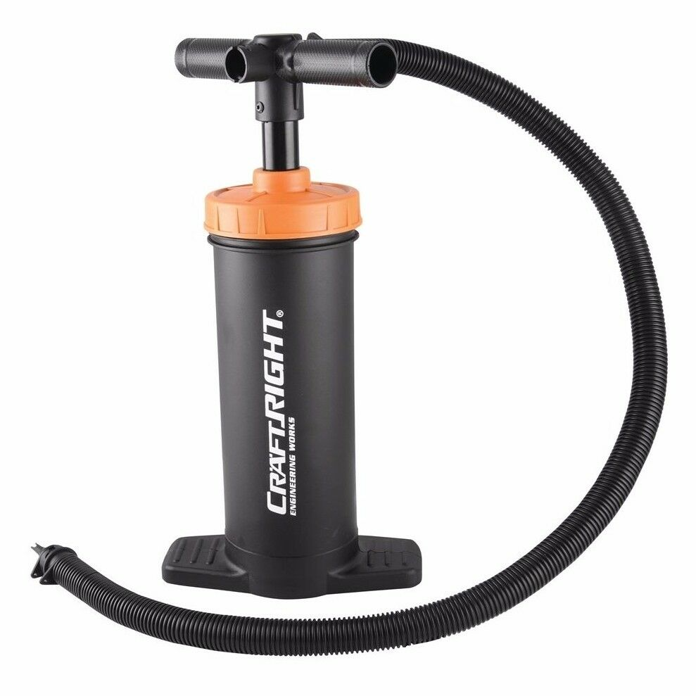 Craftright DUAL ACTION HIGH VOLUME HAND PUMP Separate Inflation & Deflation Port