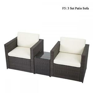 Image Is Loading Diy Outdoor Patio Sofa Sectional Furniture Pe Wicker