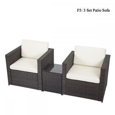 DIY Outdoor Patio Wicker Rattan Deck Couch
